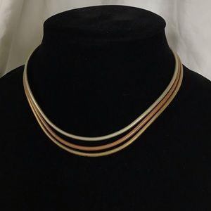Vintage Copper Brass Revival  Collar Necklace